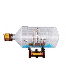 Benutzerdefinierte 16045 MOC Schiff in einer Flasche Bausteine Spielzeug-Set
