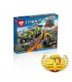 ЛЕПИН 02005 набор Разведочное Вулкан базовые строительные игрушки совместимый строительные блоки