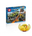 LEPIN 02005 Volcano Exploration Base Building Bricks Set