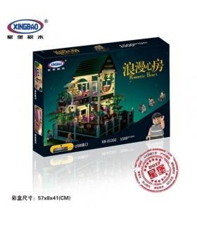 XINGBAO01202のロマンティックハートビル煉瓦セット