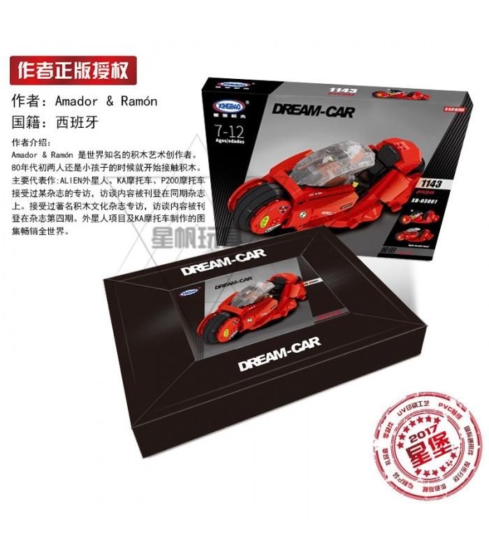 XINGBAO 03001 Citizen Akira Motocycle Shotaro Kaneda's Bike Building Bricks Set