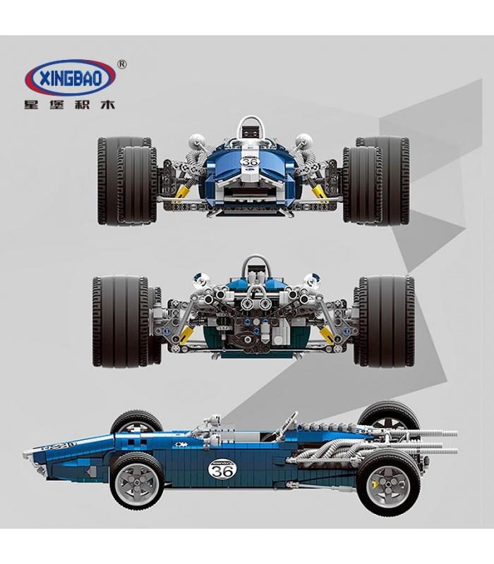 XINGBAO 03022 Blau Sonic Racing Autos, Bausteine-Set