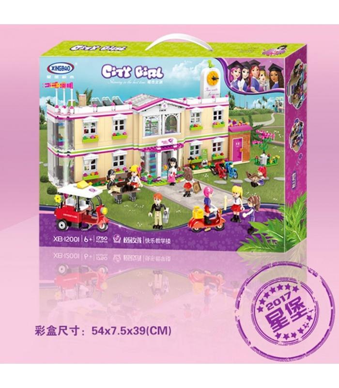 XINGBAO12001嬉しい教育ビルの建物の煉瓦セット