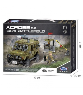 XINGBAO 06012 Militär-Jeep-Bausteine-Set