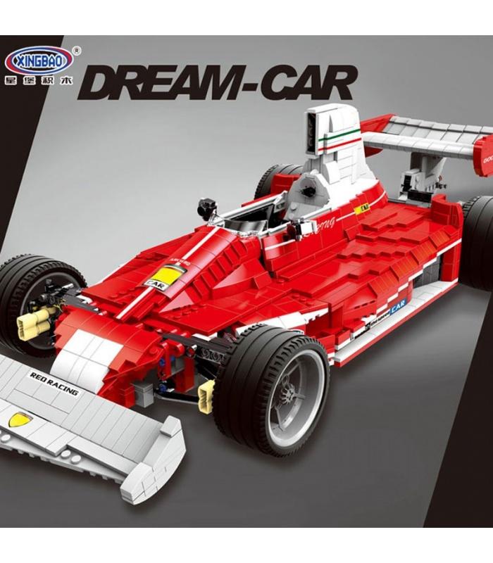 XINGBAO 03023 Красный формула один гоночный автомобиль строительные кирпичи комплект