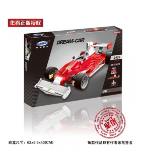 XINGBAO 03023 Red Power Racing Car Building Bricks Set