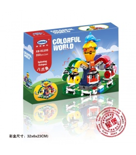 XINGBAO 01108 Spinning Pulpo Edificio de Ladrillos Conjunto