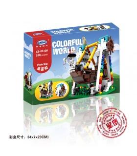 XINGBAO01109海賊船ビル煉瓦セット