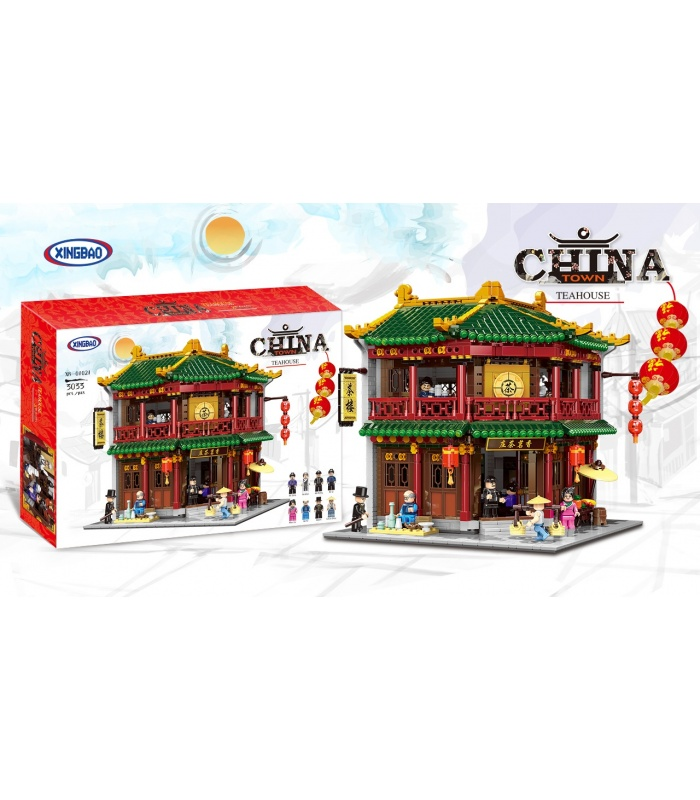 XINGBAO 01021 Xiangming de Thé Maison de Briques de Construction, Jeu de