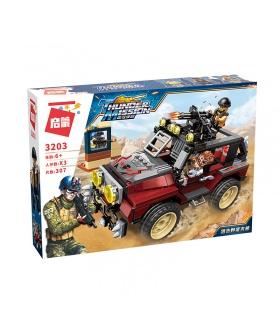 ILUMINAR 3203 Bloque Armado Jeep Conjunto de Bloques de Construcción