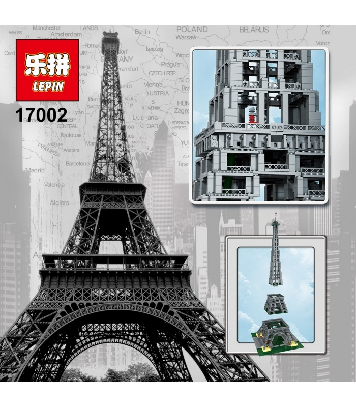 LEPIN 17002 Eiffel Tower 1:300 Building Bricks Set
