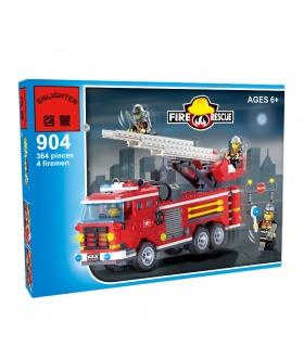 ÉCLAIRER 904 Trois Pont d'Incendie les Moteurs de Blocs de Construction Ensemble