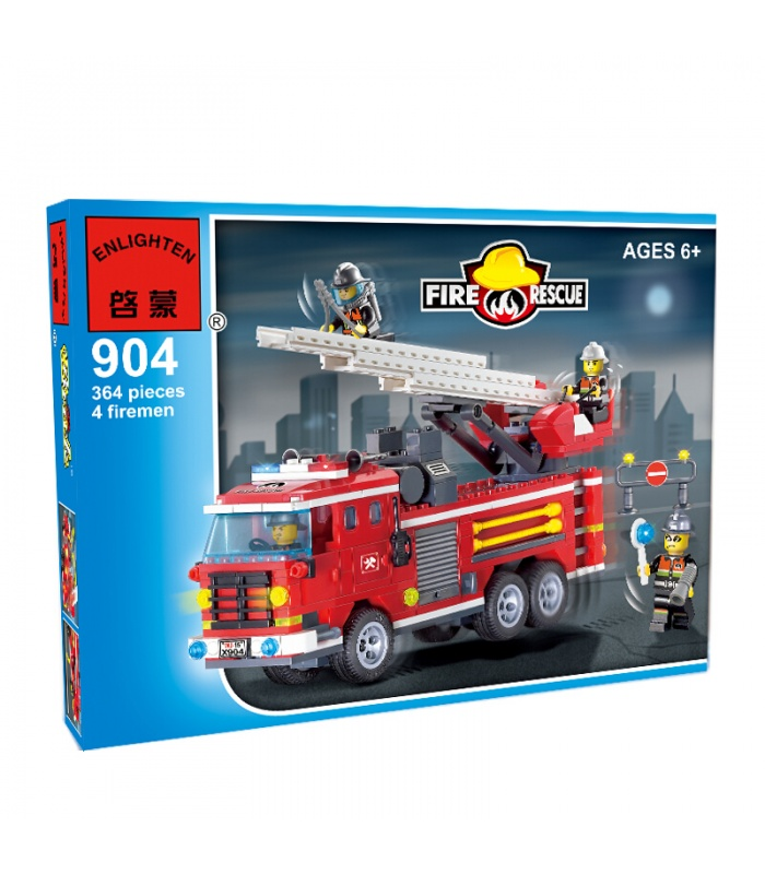 Просветите 904 три мост пожарные машины строительные блоки комплект