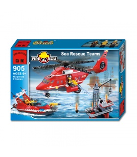 AUFKLÄREN 905 Sea Rescue Teams Bausteine-Set