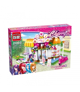 ENLIGHTEN 2003 Abby's Cafe Building Blocks Set