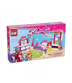 ENLIGHTEN 2001 Cherry's Bedroom Building Blocks Set