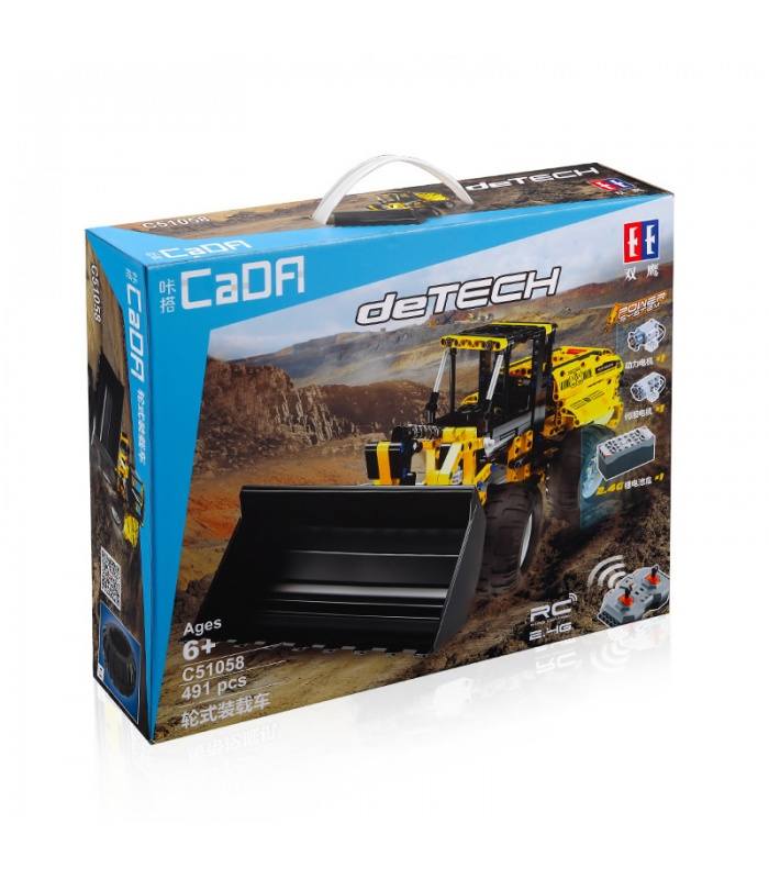 Double Eagle CaDA C51058 Remote Control Bulldozer Building Blocks Set