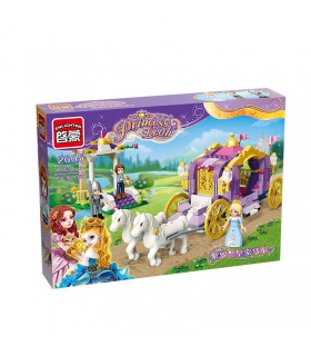 ENLIGHTEN 2605 Violet Carriage Building Blocks Set