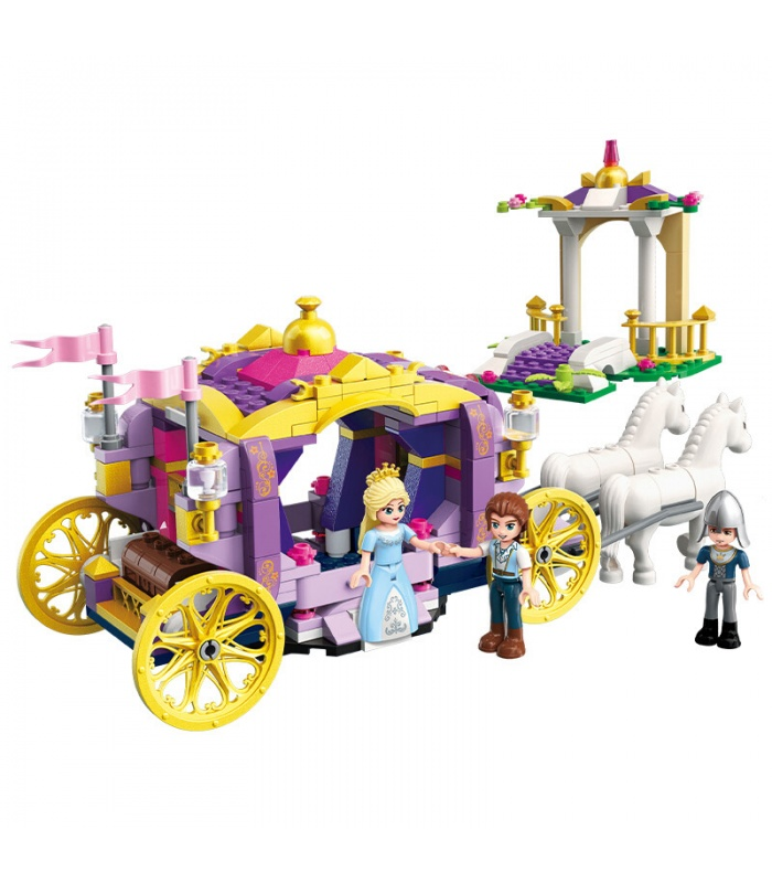 ENLIGHTEN 2605 Violet Carriage Building Blocks Set