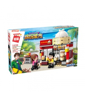 ENLIGHTEN 1132 Golden Baozi Shop Building Blocks Set