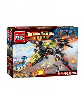 ENLIGHTEN 2716 Black Flash Bomber Building Blocks Set