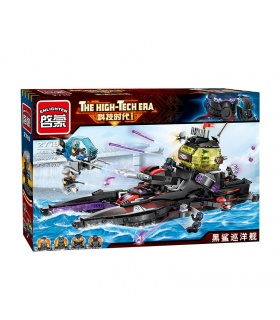 ENLIGHTEN 2719 Black Shark Cruiser Building Blocks Set