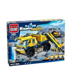 ILUMINAR 2411 Dumptruck Monstruo de la Construcción de Bloques
