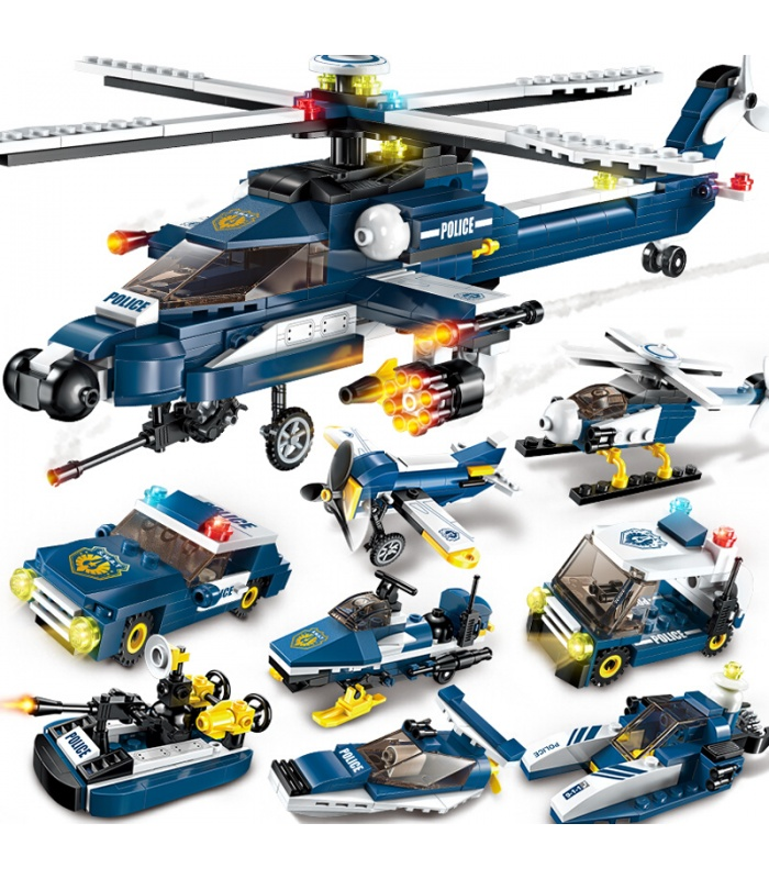 ENLIGHTEN 1801 Storm Armed Helicopter Building Blocks Set