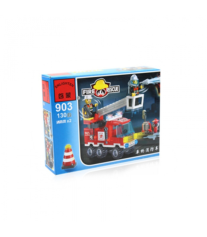 ENLIGHTEN 903 Single Bridge Fire Engines Building Blocks Set