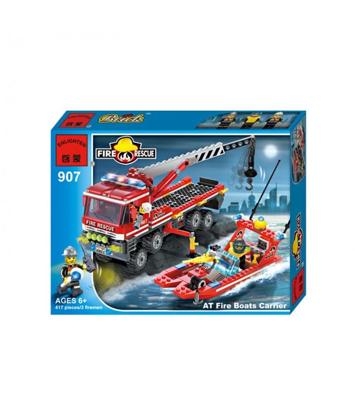 ENLIGHTEN 907 AT Fire Boats Carrier Building Blocks Set