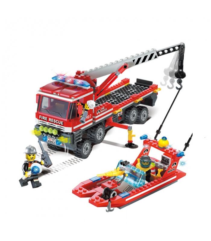 AUFKLÄREN 907 AUF der Feuer-Boote Carrier-Bausteine-Set