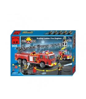 啓発908スケーリング梯子消防車ビルブロックの設定