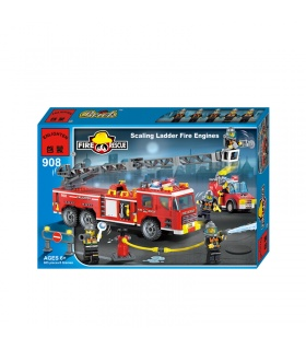 ENLIGHTEN 908 Scaling Ladder Fire Engines Building Blocks Set