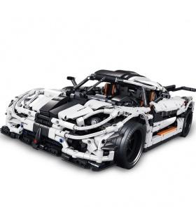 Benutzerdefiniertes MOC Koenigsegg One: 1 Sportwagen-kompatibles Baustein-Spielzeugset