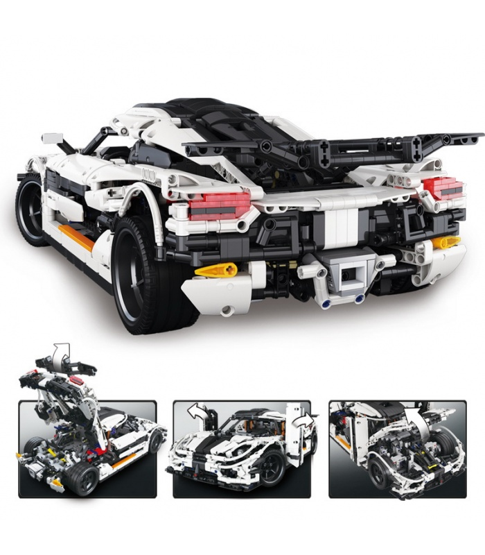 Custom MOC Koenigsegg One: 1 Sports Car Compatible Building Bricks Set