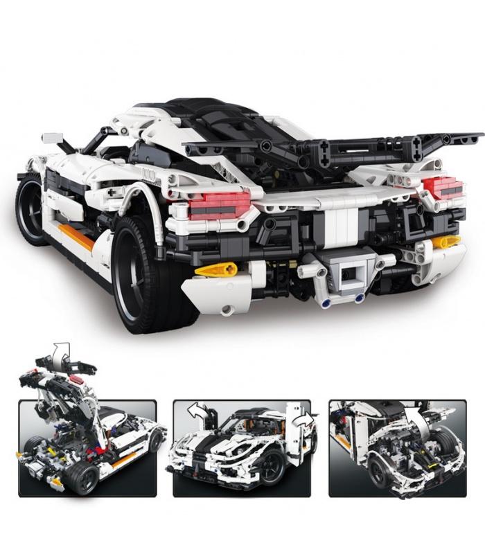 Personalizado MOC Koenigsegg Uno: 1 Coche Deportivo Compatible con los Ladrillos del Edificio Conjunto de Juguete