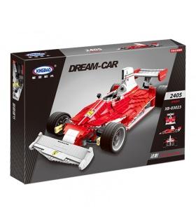 XINGBAO 03023 Rojo Fórmula Uno de Carreras de Coches Edificio de Ladrillos Conjunto