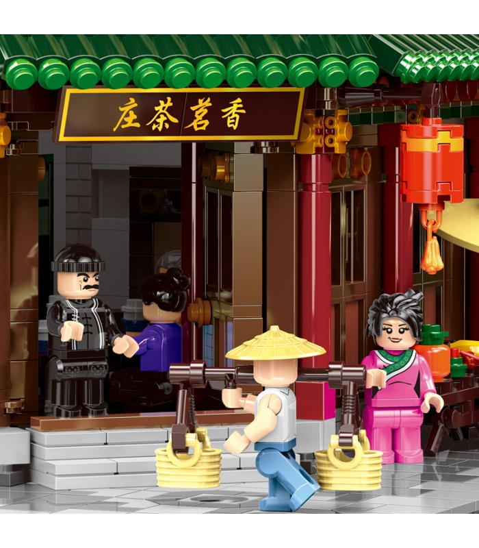 XINGBAO 01021 Xiangming Casa de Té Edificio de Ladrillos Conjunto