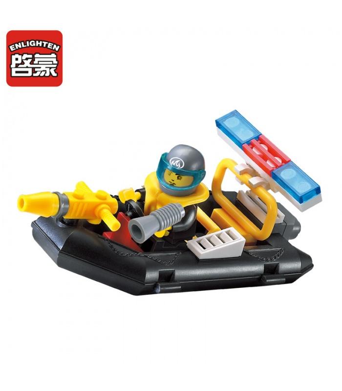 AUFKLÄREN 906 Wasser-Spray-Feuer-Boot-Bausteine-Set