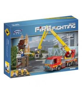 XINGBAO 14002 Rettung Des Hohen Gebäudes Bau-Steine-Set