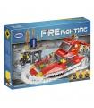 XINGBAO14003海上火災船ビル煉瓦の玩具セット