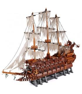 Personalizado Piratas del Caribe Holandés errante Edificio de Ladrillos Conjunto de Juguete