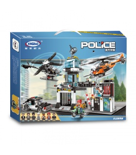 XINGBAO 10001 La Police Commandement Opérationnel de la Station de Briques de Construction, Jeu de