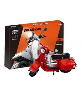 XINGBAO 03002A Rote Version Vespa P200 Moto Bausteine-Set