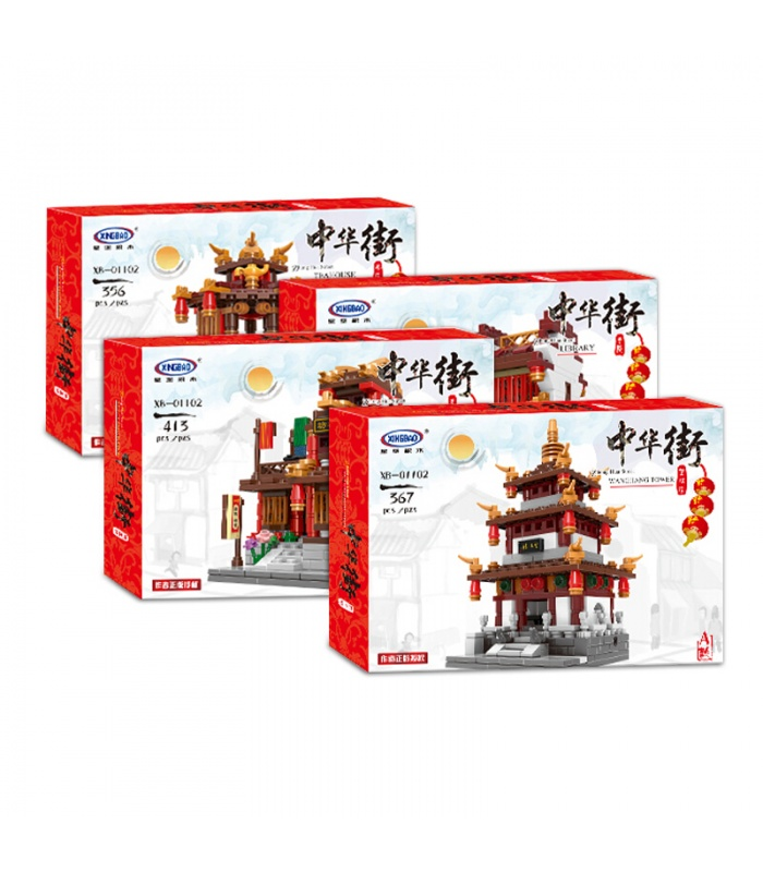 01102 XINGBAO Чжун Хуа Сритесь строительного кирпича комплект