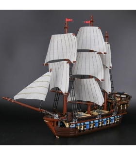 Benutzerdefinierte imperiale Flaggschiff Fluch der Karibik Bausteine Spielzeug Set
