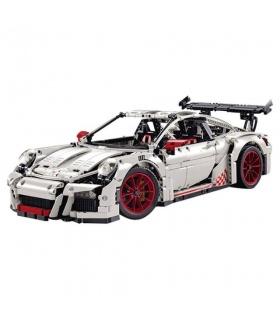 Benutzerdefinierte weiße Porsche 911 GT3 RS Technik Bausteine Set