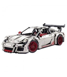 Custom White Porsche 911 GT3 RS Technic Building Bricks Set