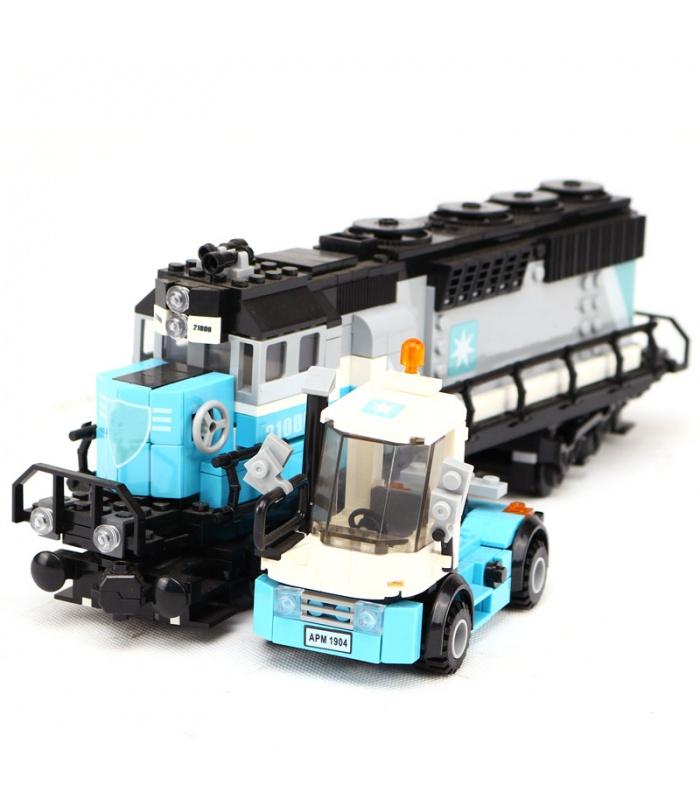 Custom Maersk Train Compatible Building Bricks Toy Set 1234 Pieces