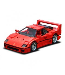 Custom Red F40 Sports Car Building Bricks Toy Set 1158 Pieces